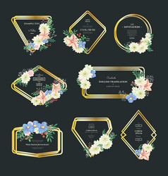 flowers and leaves compositions vector image