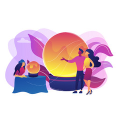 Fortune telling concept vector