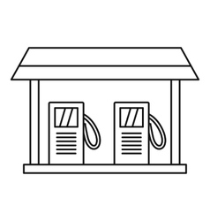Gas station icon outline style vector image