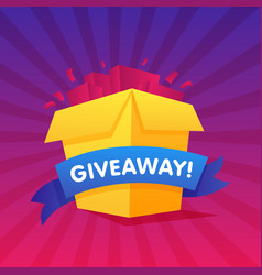 Giveaway poster template design for social media vector