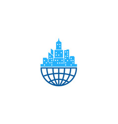 globe town logo icon design vector image