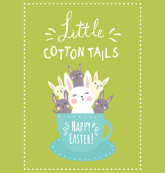 Green cotton tails vector