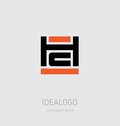 h and c logo hc - monogram or logotype design vector image