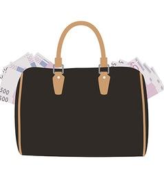 Handbag with money vector image