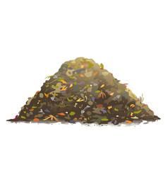Heap organic food waste isolated vector