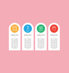 icons sample isolated on cute colorful circles vector image