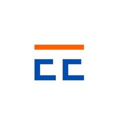 initial letter e e logo template vector image