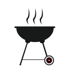 isolated grill silhouette vector image