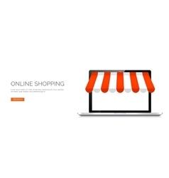 Laptop Online store vector image
