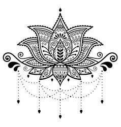 lotus flower design indian pattern vector image