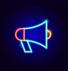 loudspeaker neon sign vector image