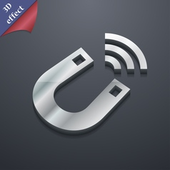 Magnet icon symbol 3D style Trendy modern design vector