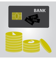 Means of payment - money and card eps10 vector