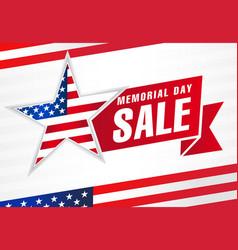 Memorial day usa sale flag light stripes banner vector