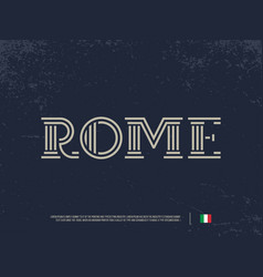 modern professional logo lettering rome vector image