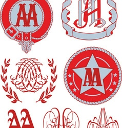 Monograms AA vector