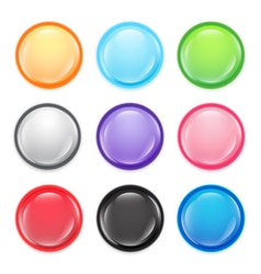 Multi colored buttons vector image