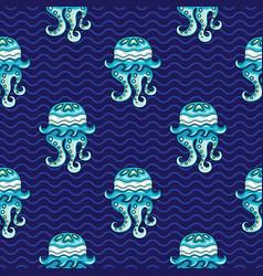 ocean pattern seamless texture series vector image vector image