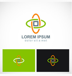 orbit technology colored business logo vector image