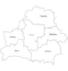 Outline Belarus map vector