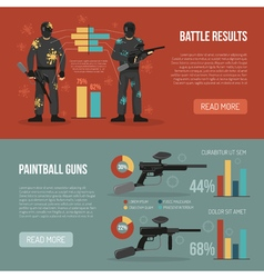 Paintball Banners Set vector