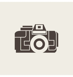 Photo camera icon in line style vector