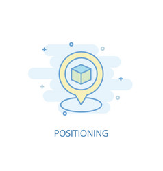 Positioning line concept simple line icon vector