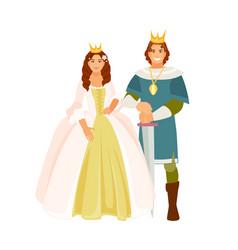 Prince and princess vector