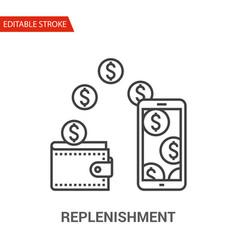 replenishment icon thin line vector image