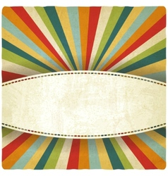 Retro colors striped old background vector