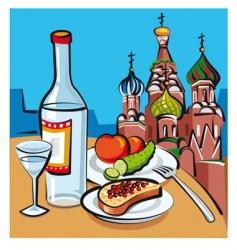 Russian vodka vector