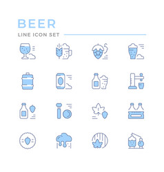 set color line icons beer vector image