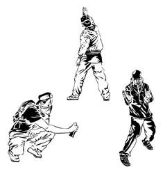 set graffiti art collection street art elements vector image