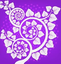 Silver Bodhi tree scene vector