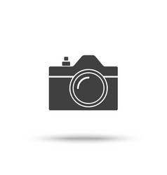 Slr camera icon isolated on white background vector