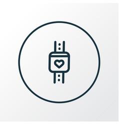 smart watch icon line symbol premium quality vector image