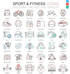 Sport and Fitness ultra modern color vector image