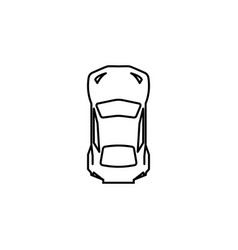 sports car from the top icon element of racing vector image