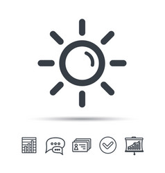 Sun icon sunny weather sign vector