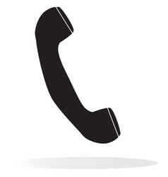 Telephone receiver on white background vector