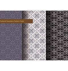 Thailand Basic Seamless Pattern Style vintage vector image
