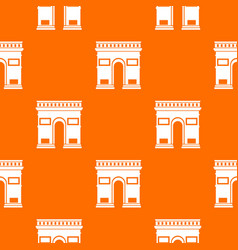 Triumphal arch pattern seamless vector