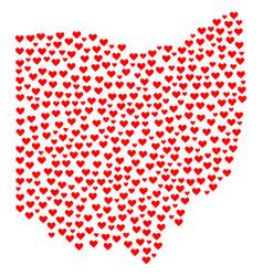 Valentine mosaic map of ohio state vector