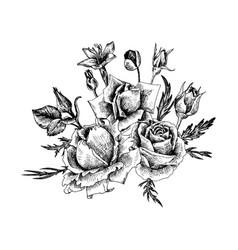 Vintage floral composition vector