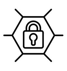Web locked icon outline style vector