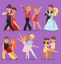 dancing couples romantic person people dance man vector image