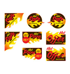 Hot sale price offer deal labels stickers corner vector