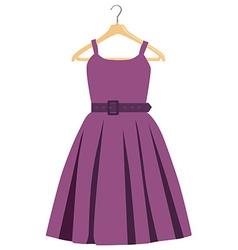 Purple dress vector image