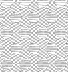 Slim gray striped hexagons forming tetrapods vector image vector image