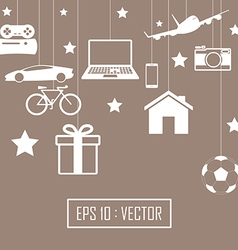 big gift set vector image vector image